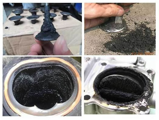 The effects of the carbon deposit for the car